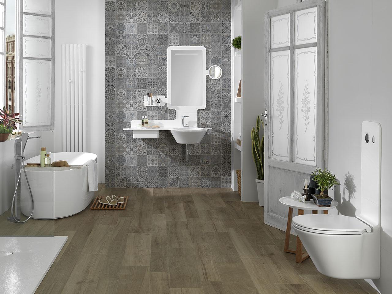 Bathrooms - Banos rusticos azulejos ...